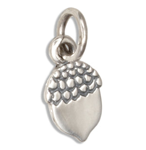 Sterling Silver Small Mini Acorn Charm