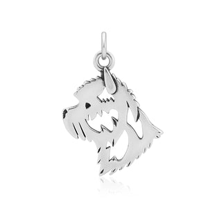 Sterling Silver Cairn Terrier Dog Head Pendant