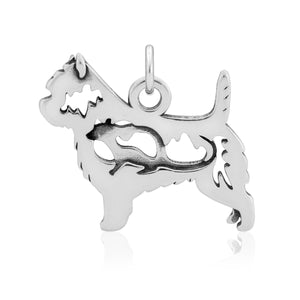 Sterling Silver Cairn Terrier Pendant with Rat in Body
