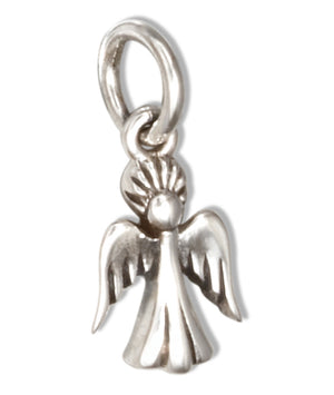 Sterling Silver Tiny Winged Angel Charm Pendant