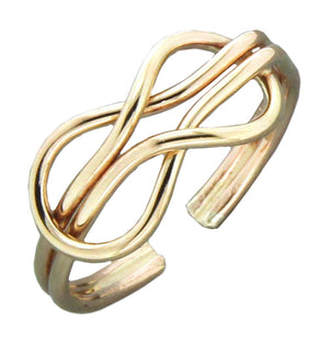 12 Karat Gold Filled Double Loop Adjustable Toe Ring