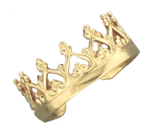 12 Karat Gold Filled Filigree Crown Ear Cuff