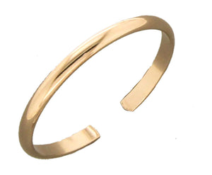 12 Karat Rose Gold Filled Adjustable 1.5mm Plain Toe Ring