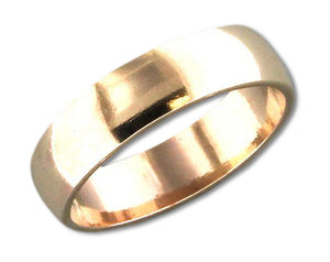 12 Karat Gold Filled 4mm High Polish Wedding Band Ring