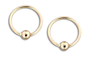 12 Karat Gold Filled 10mm Ball Hoop Earring
