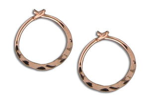 12 Karat Rose Gold Filled 11mm Hammered Hoop Earrings