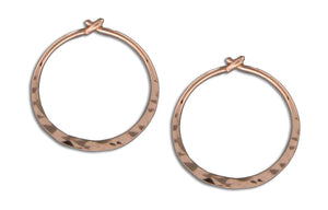12 Karat Rose Gold Filled 17mm Hammered Hoop Earrings