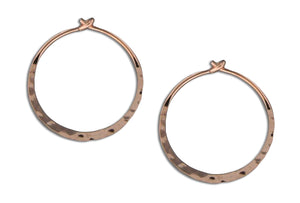 12 Karat Rose Gold Filled 20mm Hammered Hoop Earrings
