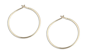 12 Karat Gold Filled 31mm Wire Hoop Earrings
