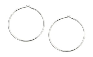 Sterling Silver 41mm Wire Hoop Earrings