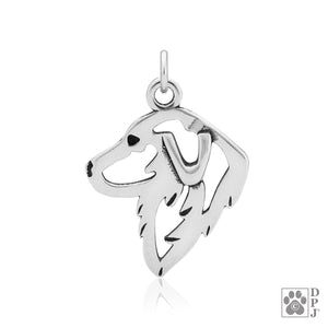 Sterling Silver Great Pyrenees Dog Head Pendant
