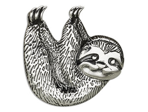 Sterling Silver Three Toed Sloth Dangling Charm Pendant