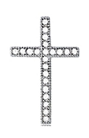 Sterling Silver Small Micro Pave Cubic Zirconia Cross Pendant