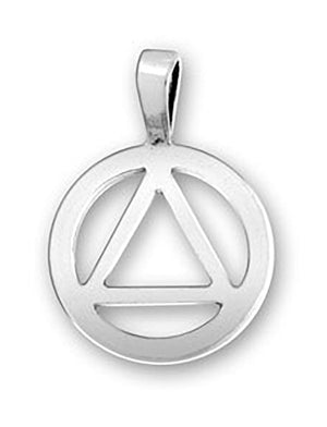 Sterling Silver Recovery Symbol Pendant