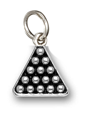 Sterling Silver Billiard Pool Rack Of Balls Charm Pendant
