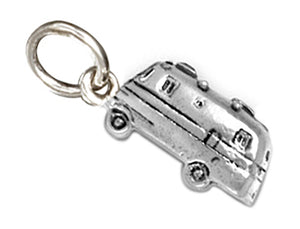 Sterling Silver Rv Motorhome Camper Charm Pendant