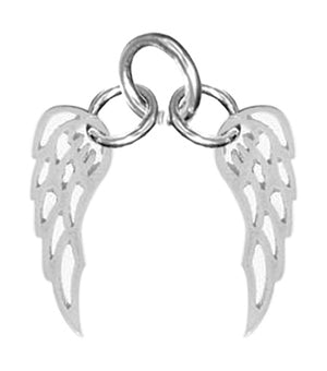 Sterling Silver Angel Wings Charm Pendant
