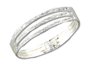 Sterling Silver Stardust Three Band Ring