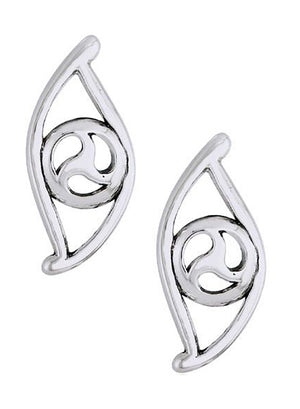 Sterling Silver Celtic Swirl Eye Earrings