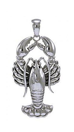 Sterling Silver Giant Full Body Lobster Pendant