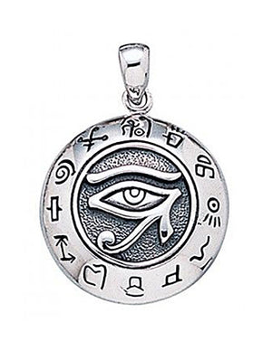 Sterling Silver Eye Of Horus Pendant