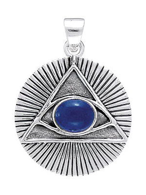 Sterling Silver All Seeing Eye Of Providence Pendant