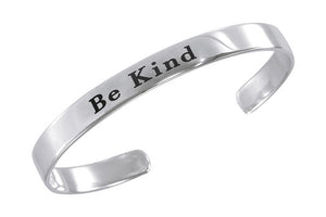 "Sterling Silver ""Be Kind"" Cuff Bracelet"