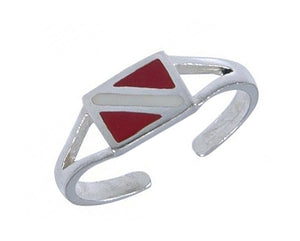 Sterling Silver Diver Down Flag Toe Ring
