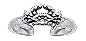 Sterling Silver Crab Toe Ring
