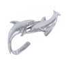 Sterling Silver Double Dolphin Cuff Bracelet