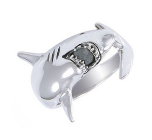 Sterling Silver Shark Wrap Ring