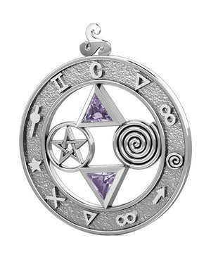Sterling Silver Talisman Pendant with Amethyst Trillions