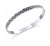 Sterling Silver Celtic Knots Bangle Bracelet