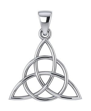Sterling Silver Celtic Encircled Triquetra Pendant