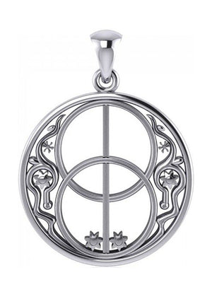 Sterling Silver Ancient Chalice Well Pendant