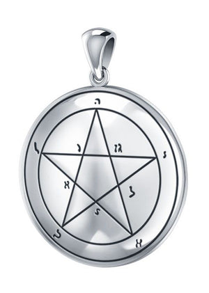 Sterling Silver First Pentacle Of Mercury Pendant