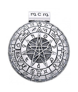 Sterling Silver Magick Circle Medallion Pendant