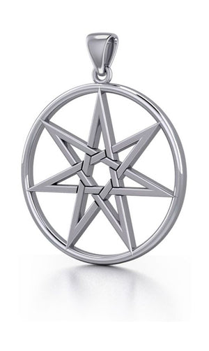 Sterling Silver 7 Pointed Faerie Star Pendant