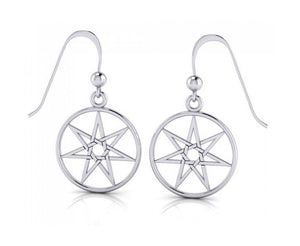 Sterling Silver 7 Pointed Fairie Star Earrings