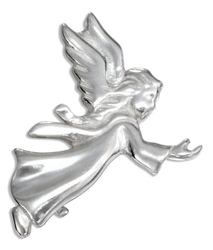 Sterling Silver Side View Guardian Angel Pin