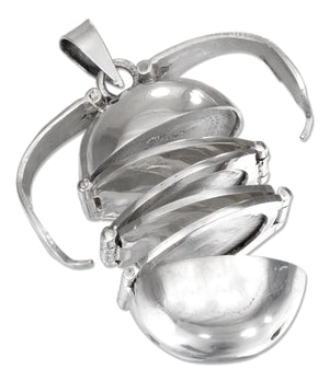 Sterling Silver Six Picture Ball Locket