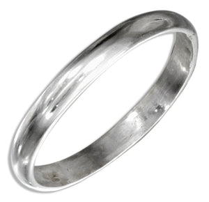 Sterling Silver 2mm High Polish Wedding Band Ring