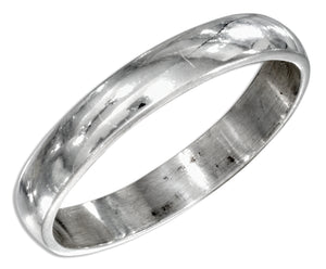 Sterling Silver 4mm High Polish Wedding Band Ring