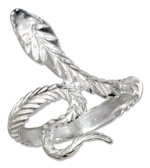 Sterling Silver Diamond Cut Snake Ring