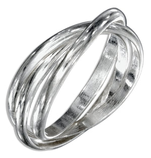 Sterling Silver 2mm High Polish Three Band Slide Ring