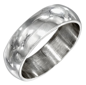Sterling Silver 7mm High Polish Wedding Band Ring
