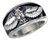 Sterling Silver Eagle with Spread Wings Band Ring