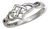 Sterling Silver Dainty Open Celtic Knot Ring