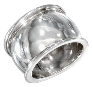 Sterling Silver 14mm High Polish Tapered Band Ring