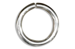 Sterling Silver Round Jump Rings .036 inch X 8mm (25 Pieces)
